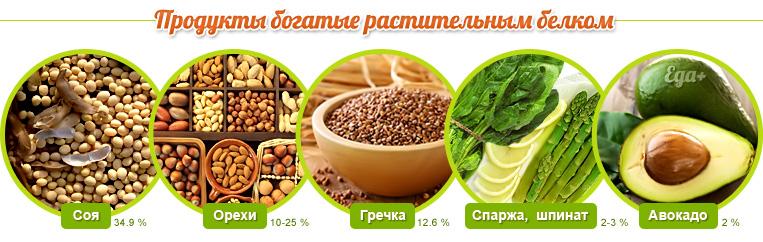 Продукты с содержанием растительного белка